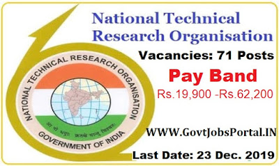 NTRO Recruitment for Technical Assistants 2019