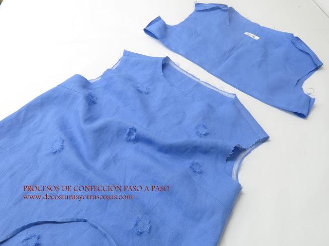 como rematar una blusa sin mangas