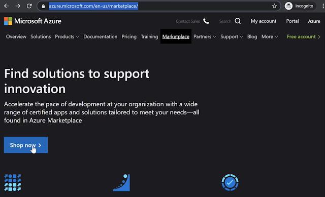 Azure Markeplace for virtual machine