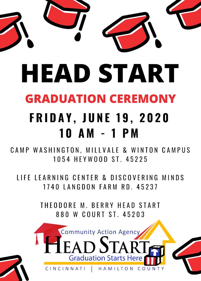 Head Start Graduation | Friday, June 19, 2020 10 AM - 1PM