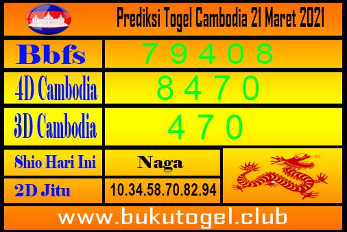 Prediksi Cambodia 21 Maret 2021