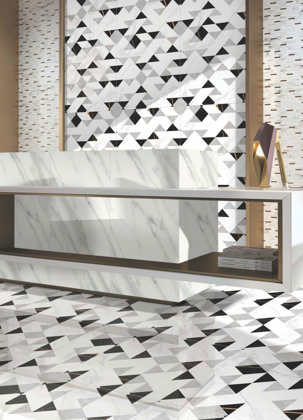 white porcelain floor