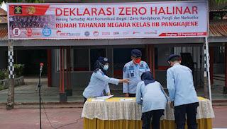 Rutan Pangkep Gelar Apel Deklarasi Zero Handpone, Pungutan Liar,Dan Narkoba