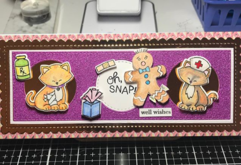 Oh snap! Get well by Betty Tollner features Ginger Snap, Newton's Sick Day, and Slimline Frames & Portholes by Newton's Nook Designs; #newtonsnook