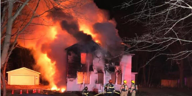 Firemen,fight,flares,house,detonates,in Parma,Heights