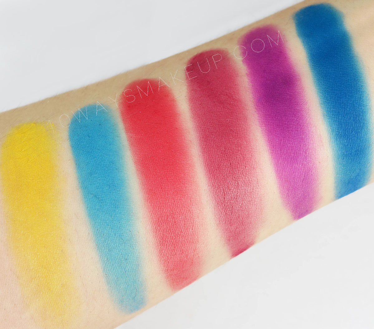 Viseart Editorial Brights palette swatch review