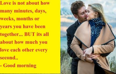 Romantic Good Morning Images for Boyfriend - love is not about