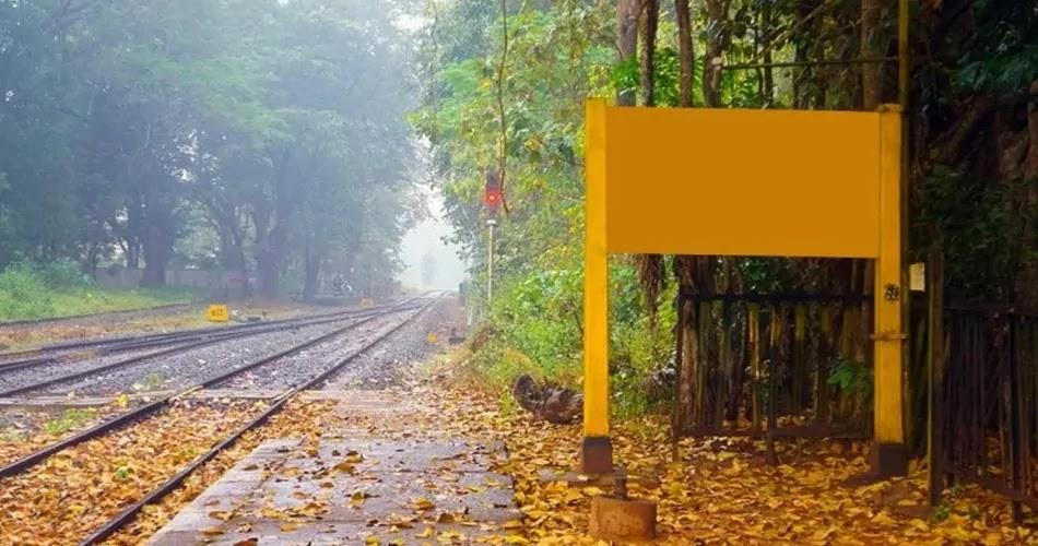 Rainagar 'No Name Railway Station' India