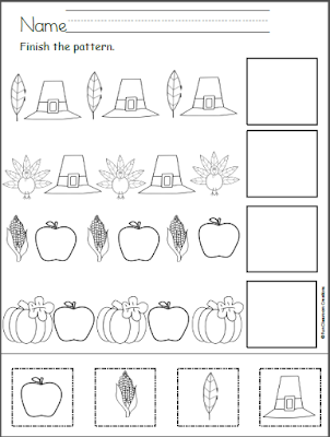 Free Thanksgiving Patterns Cut and Paste