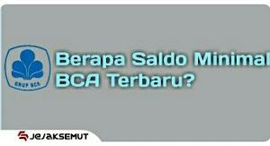 Saldo Minimal BCA Setelah Transfer atau Tarik Tunai