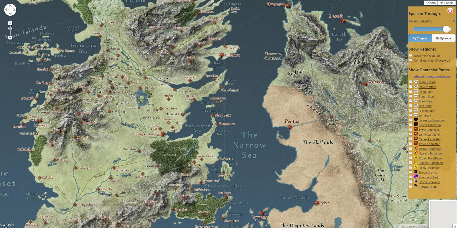 Westeros Karte Interaktiv.Landkartenblog A Song Of Ice And Fire Die Interaktive Landkarte