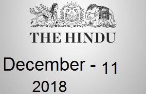 The Hindu Newspaper Today 11 December 2018 Download PDF