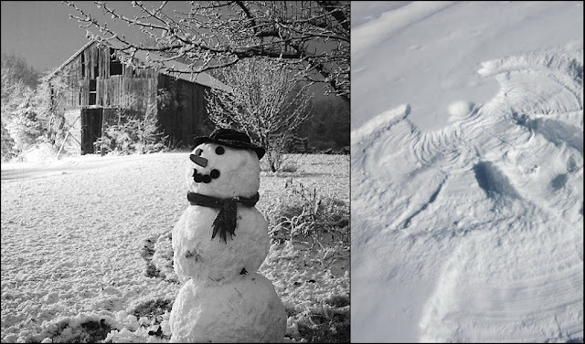 snowmen+and+snow+angels - Reasons to Love Winter