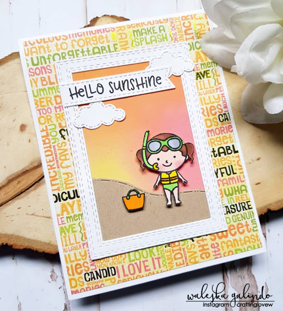 Sunny Studio Stamps: Beach Babies Customer Card Share by Waleska Galindo