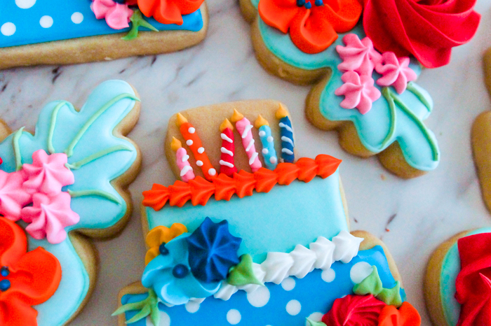 The Pioneer Woman Birthday Flowers Party Cookies