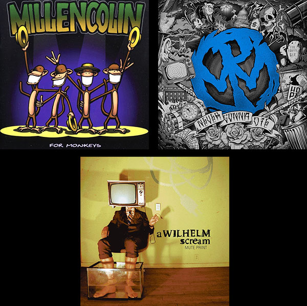Millencolin, Pennywise and A Wilhelm Scream albums turning years today