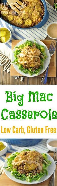LOW CARB BIG MAC CASSEROLE