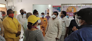 उच्च शिक्षा मंत्री डॉ. यादव ने जनप्रतिनिधियों के साथ विभिन्न अस्पतालों का दौरा कर व्यवस्थाओं का जायजा लिया