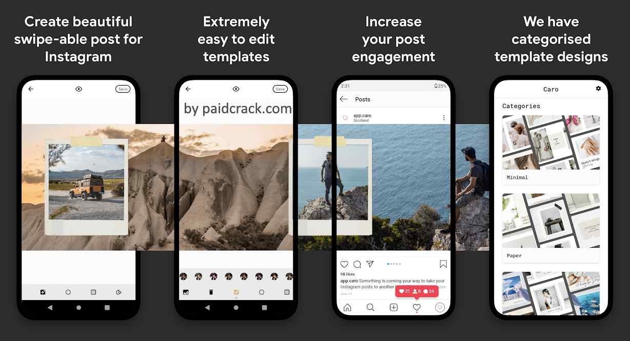Scroll Post for Instagram - Caro Premium Mod Apk 2.0.3