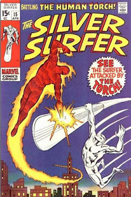 Silver Surfer #15, the Human Torch
