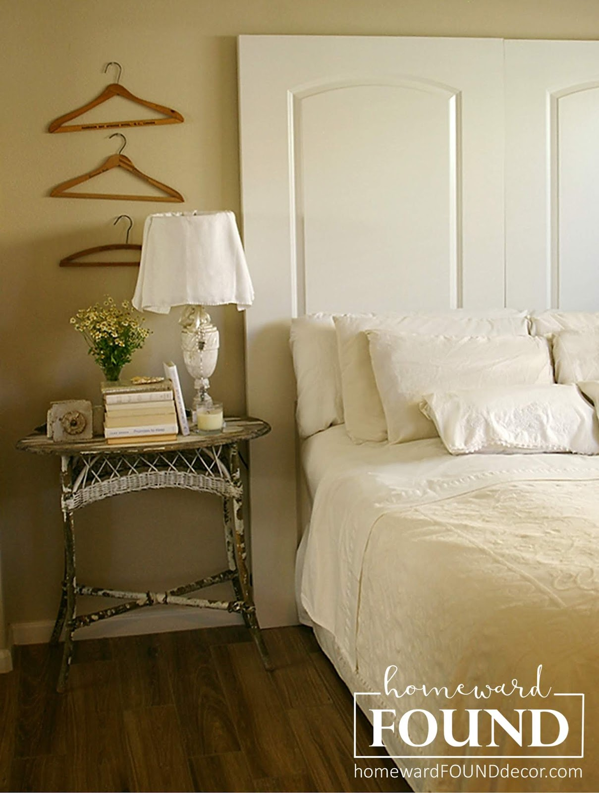 diy headboard to a-door... homewardFOUND decor