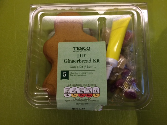 Box of Tesco Gingerbread