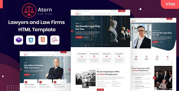 Best Law Firm & Attorney HTML Template