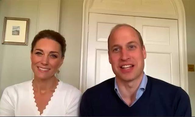 Kate i William podczas wideorozmowy z okazji pierwszej rocznicy powstania Mark Shout's