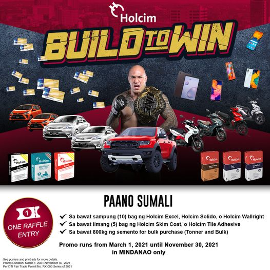 Holcim Philippines Launches Build to Win Promo Exclusively for Mindanao