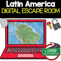 Latin America Digital Escape Room Latin American Geography Vocabulary Mapping Latin Key Facts About Lain America Activity  Key Facts about Latin America Activity  Timeline of Latin American History Activity Physical Geography of Latin America