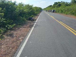 Homem morre ao colidir com animal em Juazeiro do Piauí