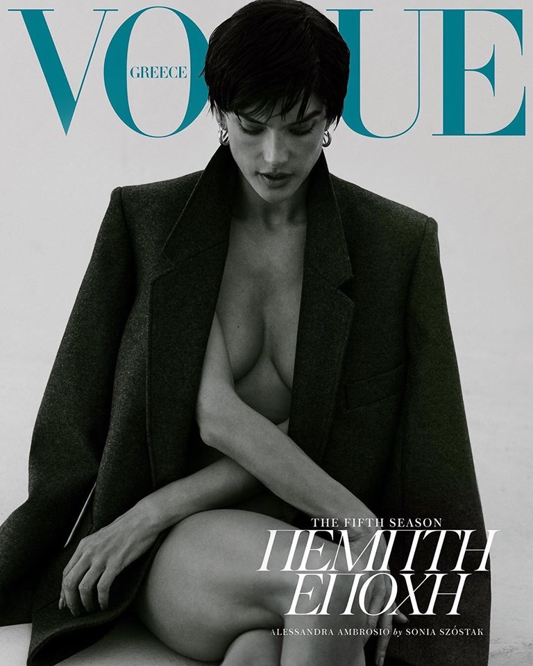 Alessandra Ambrosio bares it all for Vogue Greece August 2019