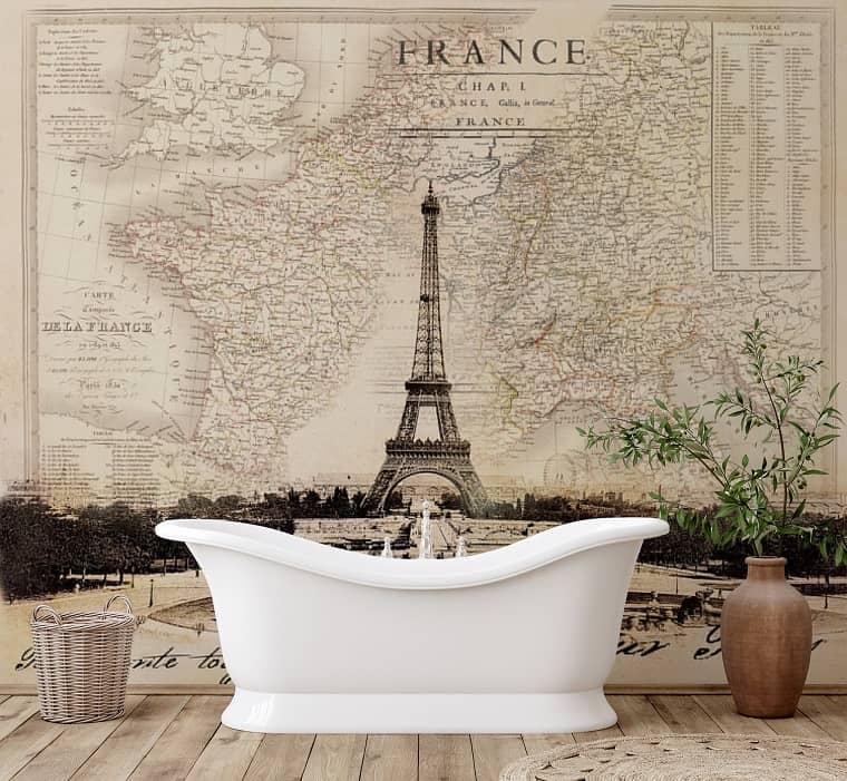 wallpaper mural Paris-themed