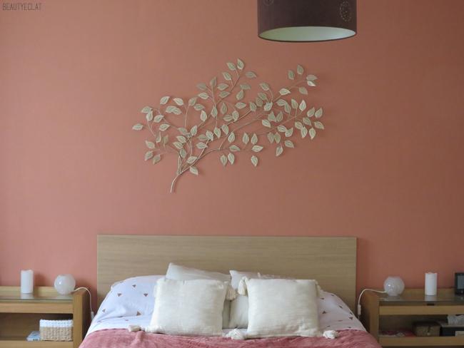 tête de lit doré cuivre rose