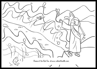 Passover Story Moses at Red Sea