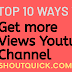 Top 10 Strategies get more views for Youtube videos