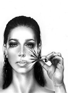 Retrato con lápis de mujer