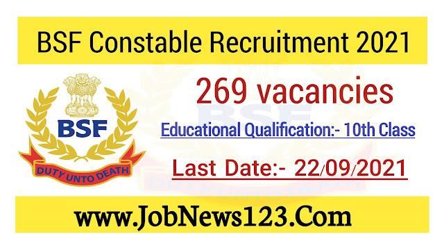 BSF Sports Quota Recruitment 2021: