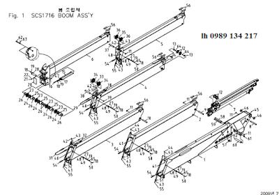 Đốt cần, xylanh ra vào cần của Cẩu soosan 17 tấn SCS1716