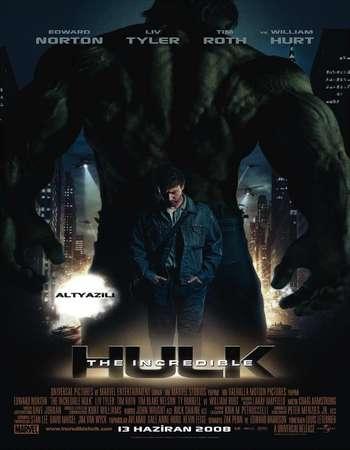 Poster Of The Incredible Hulk 2008 Dual Audio 400MB BRRip 720p ESubs HEVC Free Download Watch Online downloadhub.net