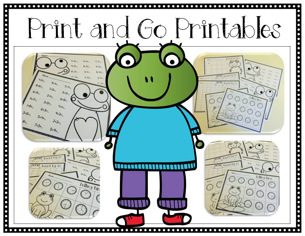 Frog Frenzy {Math Centers & Print and Go Printables} | Doodle Bugs ...