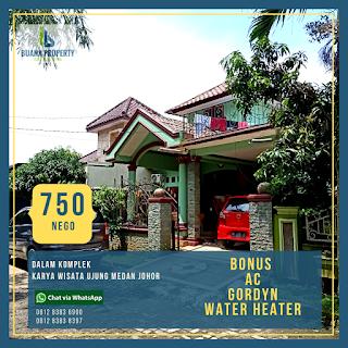 Jual Rumah Murah Bonus AC, Gordyn, Water Heater Di Karya Wisata Ujung Medan Johor
