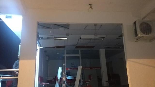 Grupo criminoso explode e destrói agência bancária na cidade de Quiterianópolis