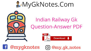 Indian Railway Gk Question-Answer PDF in Hindi