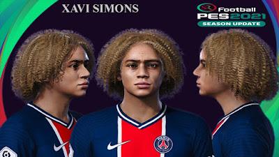 PES 2021 Faces Xavi Simons by SR