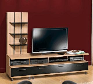 Lemari tv minimalis dari kayu