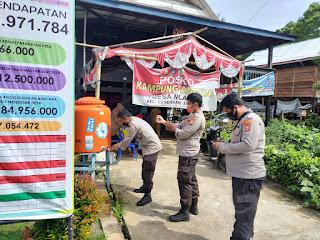 Kontrol Kampung Tangguh di Desa Malalin,   Personel Polsek Cendana Sampaikan Ini