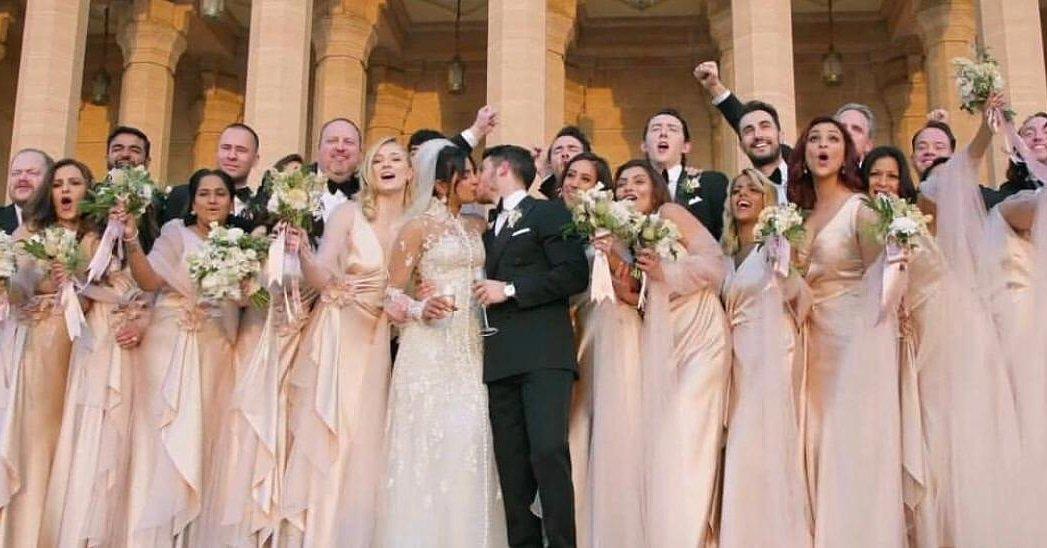 Priyanka Chopra Kisses Nick Jonas After Catholic Wedding In Jodhpur