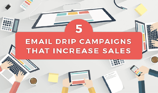 5 Email Drip Campaigns that Increase Sales #infographic