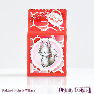 Stamp/Die Duos: Hello Foxy Custom Dies:  Milk Carton, Scalloped Circles, Mini Tags Paper Collection: Sweet Hearts